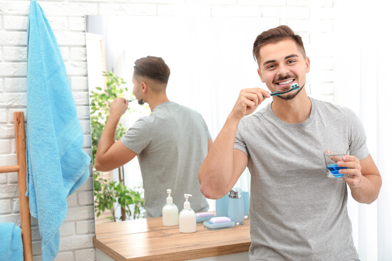 brushing teeth regularly