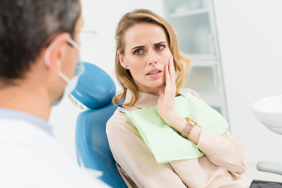 aching tooth due to sensitivity