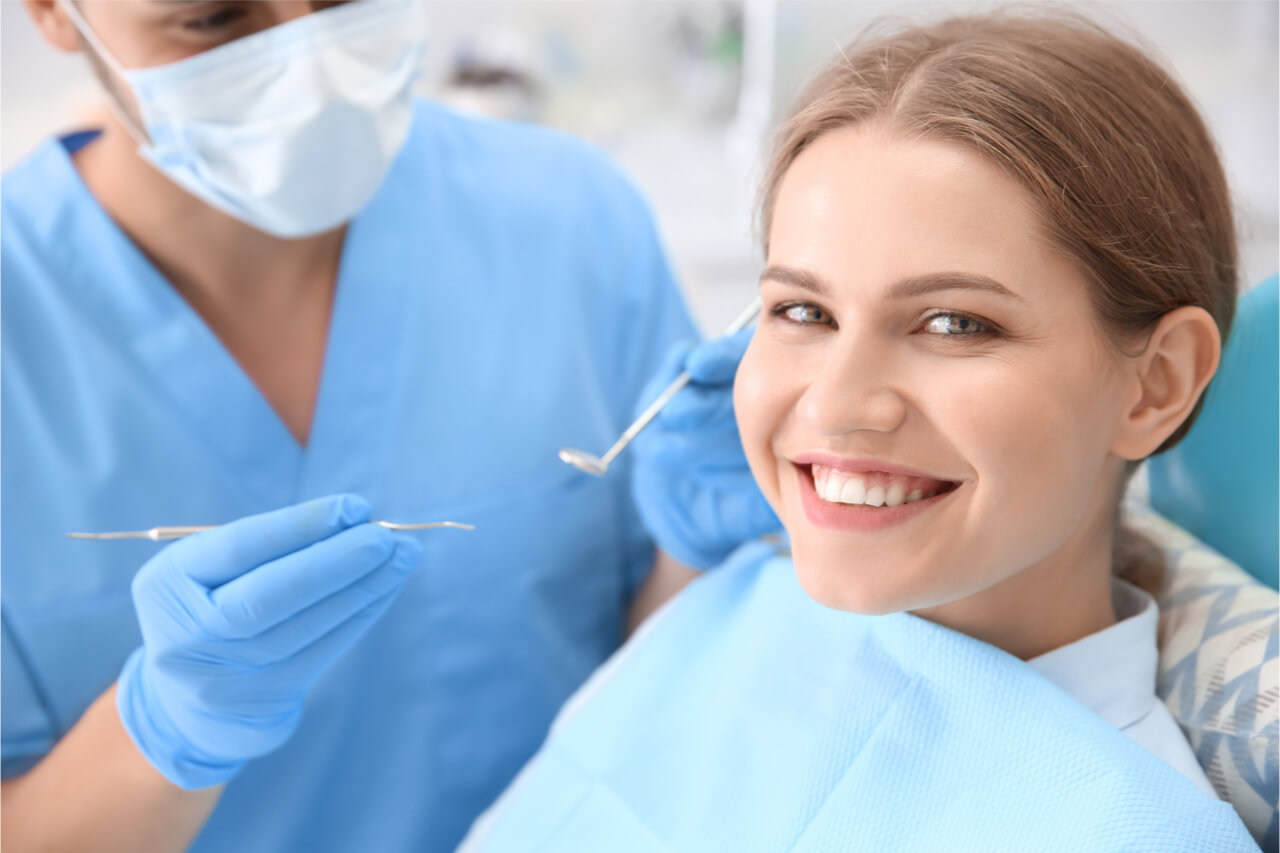 dental patient smiling